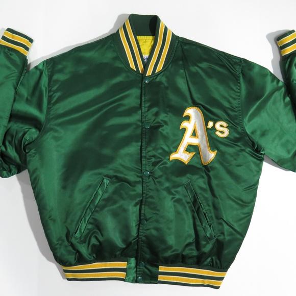 timeless design 684a6 7a819 Oakland Athletics As Green Starter Satin Jacket